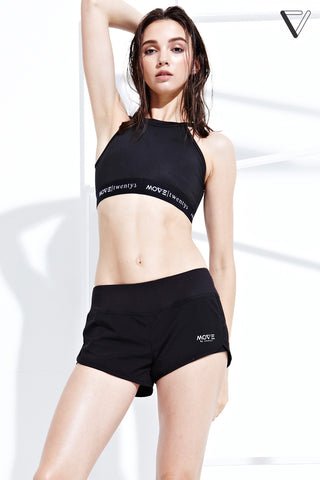 Azure Sports Bra in Black - Sports Bra - Twenty3