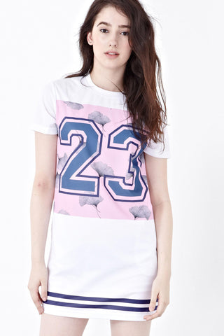 Twenty3 - Reule Football Jersey Dress in Graphic Prints -  - Dresses - 1