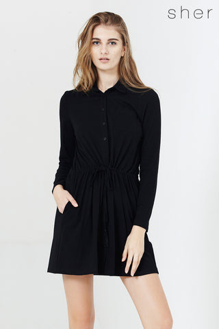 Leda Dress in Black - Dresses - Twenty3