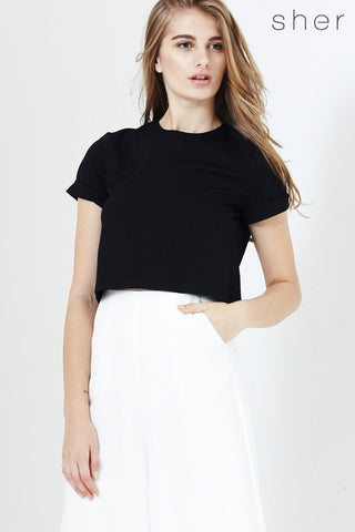 Meddeia Top in Black - Top - Twenty3