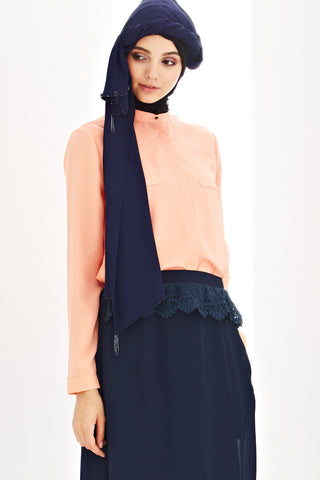 Benoit Top in Salmon Pink