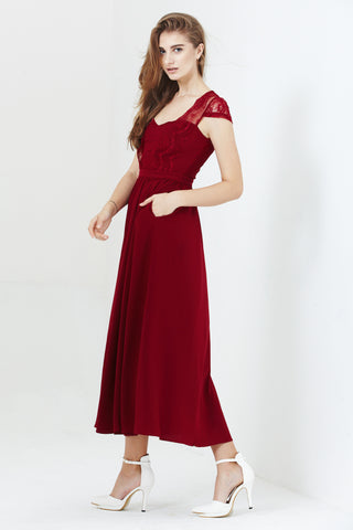 Twenty3 - Josette Dress in Burgundy -  - Bridesmaids - 1