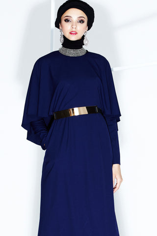 Gilda Dress in Navy Blue