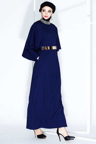 Gilda Dress in Navy Blue - Dresses - Twenty3