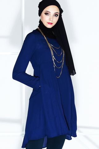 Valere Top in Navy Blue