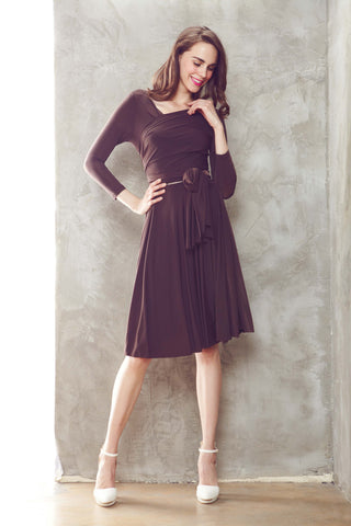 Twenty3 - Monroe Dress in Cocoa -  - Dresses - 1