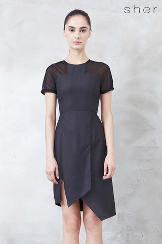 Yvette Dress in Charcoal - Dresses - Twenty3