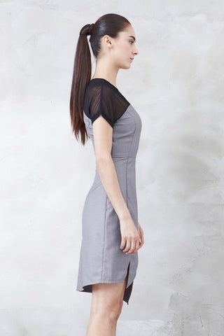 Yvette Dress in Grey - Dresses - Twenty3