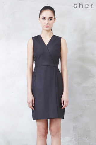 Rachelle Dress in Charcoal - Dresses - Twenty3