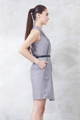 Norvene Dress in Grey - Dresses - Twenty3