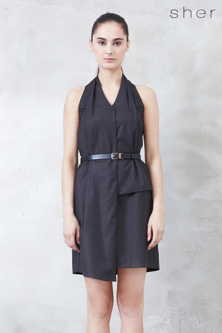 Norvene Dress in Charcoal - Dresses - Twenty3