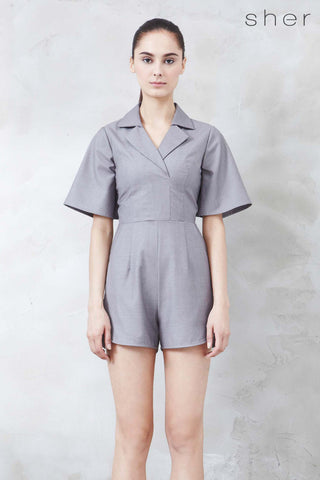 Vernovia Romper in Grey - Romper - Twenty3