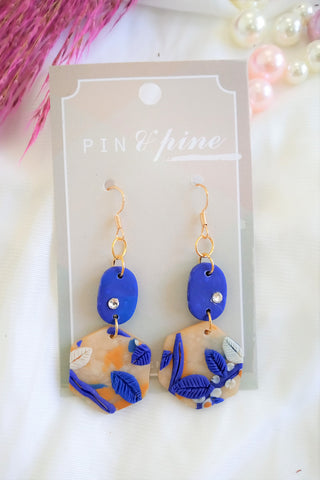 [HANDCRAFTED] Clay Earrings in Blue