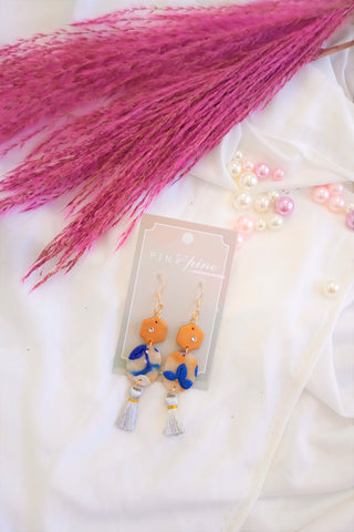 [HANDCRAFTED] Clay Tassel Earrings
