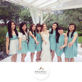 Twenty3 - Marilyn Convertible Bridesmaids Dinner Dress Version III in Tiffany Blue (Short) -  - Bridesmaids - 19