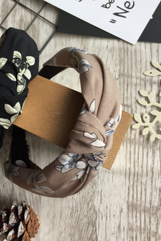 Twist Knot Headband Khaki