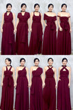 Twenty3 - Marilyn Convertible Bridesmaids Dinner Dress Version III in Burgundy -  - Bridesmaids - 9