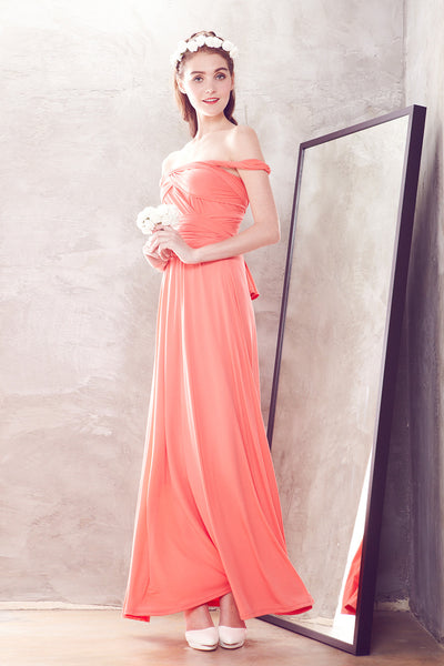 Marilyn Wedding Dress Version II in Coral - Bridesmaids - Twenty3