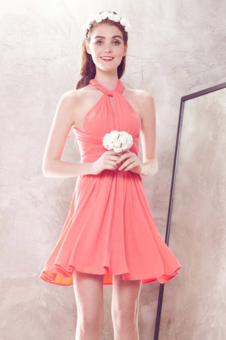 Twenty3 - Marilyn Convertible Bridesmaids Dinner Dress Version III in Coral -  - Bridesmaids - 1