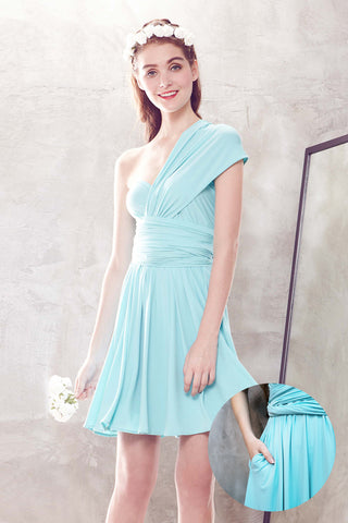 Twenty3 - Marilyn Convertible Bridesmaids Dinner Dress Version III in Tiffany Blue -  - Bridesmaids - 1