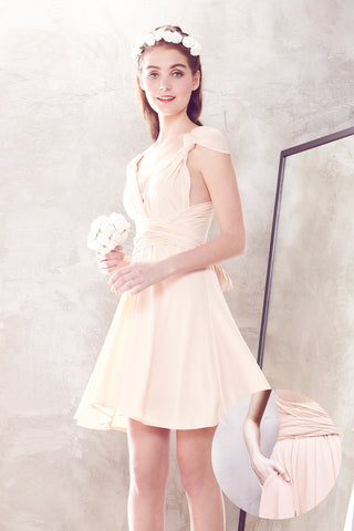Twenty3 - Marilyn Convertible Bridesmaids Dinner Dress Version III in Peach -  - Bridesmaids - 1