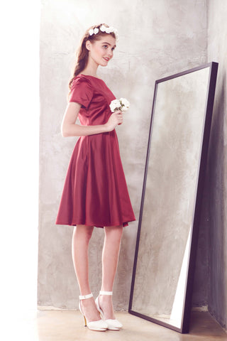 Twenty3 - Elene Dress in Burgundy -  - Bridesmaids - 1