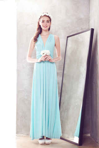 Twenty3 - [PRE-ORDER] Marilyn Convertible Bridesmaids Dinner Dress Version III in Tiffany Blue -  - Bridesmaids - 1