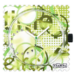 S.T.A.M.P.S. Zifferblatt - Diamond Green Time  - with Crystals