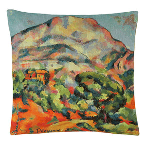 Belgian Tapestrie Kissenhülle 45 X 45 cm  The Mountains of Sainte-Victoire,  Gobelinkissen
