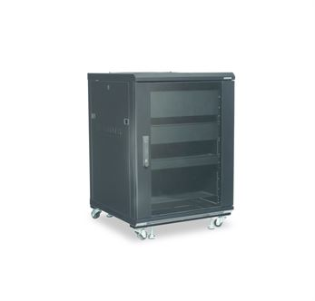 Sanus CFR2115B1, 15U Component Series 863mm Tall AV Rack - Yorkshire AV LTD