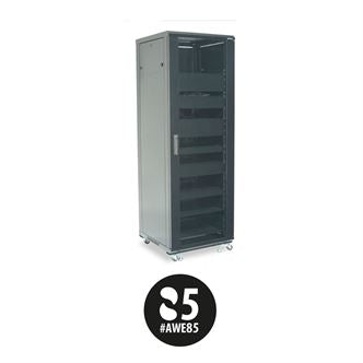 Sanus CFR2136B1, 36U Component Series 1797mm Tall AV Rack - Yorkshire AV LTD