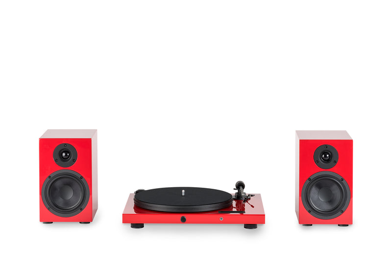 Pro-Ject Juke Box E HiFi Set Audiophile turntable system with speakers (Cartridge Included) - Yorkshire AV LTD