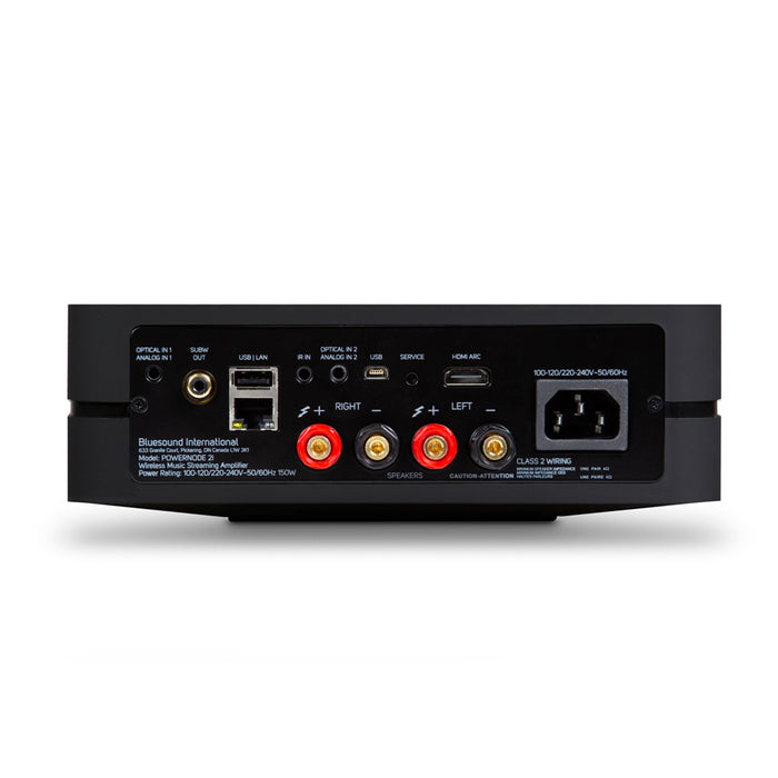 Bluesound POWERNODE 2i (with HDMI) - Wireless Multi-Room Music Streaming Amplifier