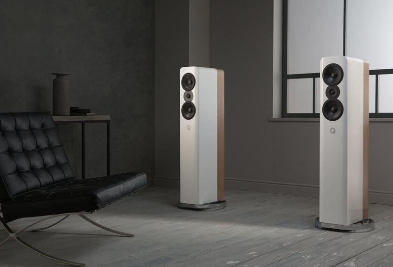 Q Acoustics Concept 500 (White/Light Oak) - pair - Yorkshire AV LTD