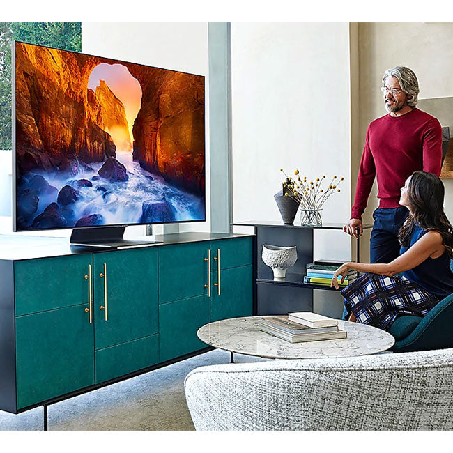 "Samsung QE75Q90RATXXU 75"" Q90R Flagship QLED 4K HDR 2000 Smart TV - Yorkshire AV LTD"