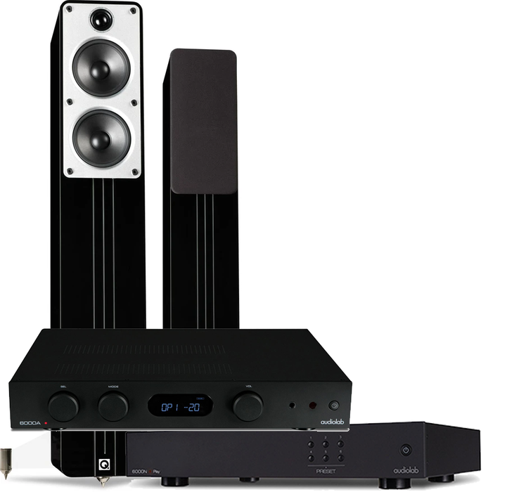 Q Acoustics Concept 40, audiolab 6000A and 6000N bundle