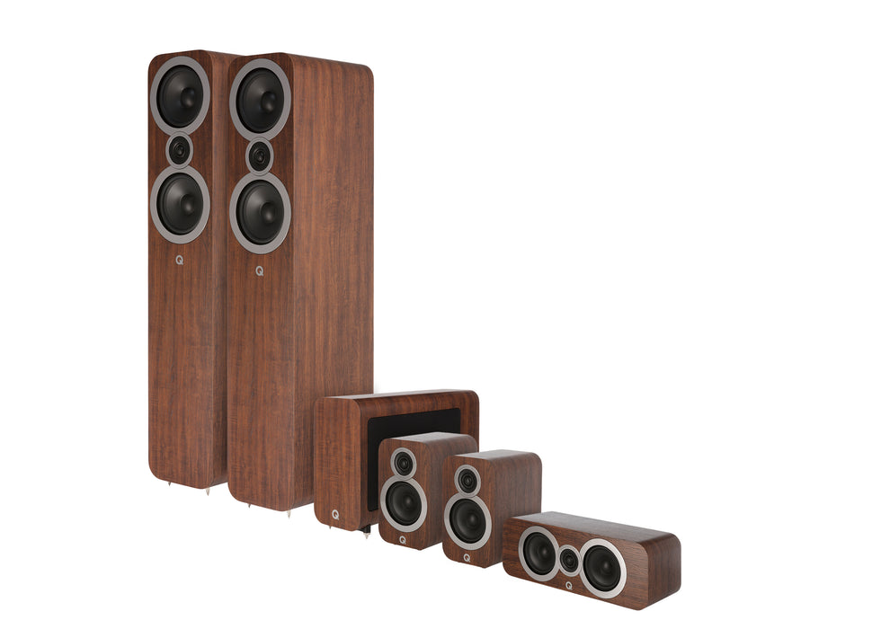 Q Acoustics 3050i Cinema Pack (English Walnut) - Yorkshire AV LTD