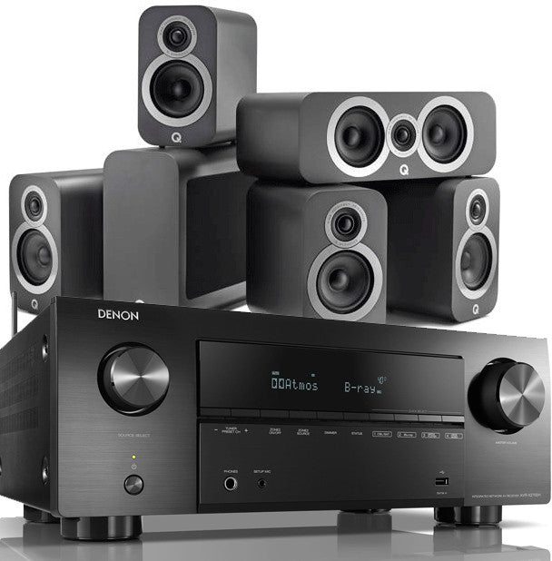 Q Acoustics 3010i and DENON AVRX2700H 5.1 Home Cinema Bundle