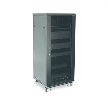 Sanus CFR2127B1, 27U Component Series 1397mm Tall AV Rack - Yorkshire AV LTD