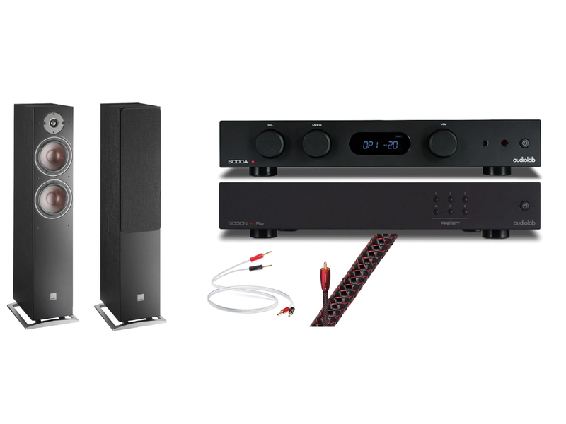 Complete HiFi Package: AudioLab 6000A, 6000N Play and DALI Oberon 7