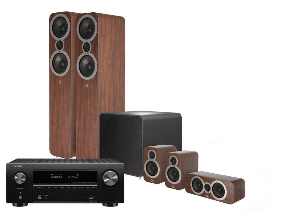 Q Acoustics 3050i PLUS with DENON AVRX3700H and Monitor Audio In-Ceiling Speakers 5.1.4 Home Cinema Bundle