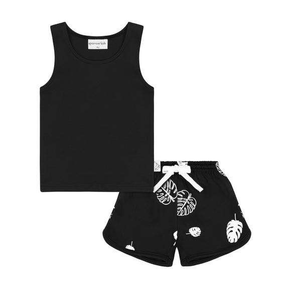 Cozy Coop Black with White Rain Coat - Royal Kids Clothing