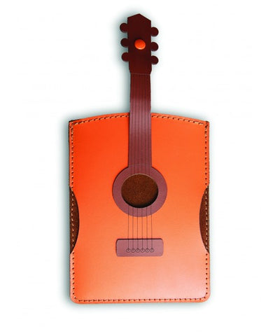Leather Acoustic Guitar Passport Holder