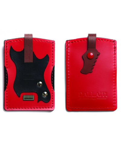 Leather Electric Guitar Card Holder