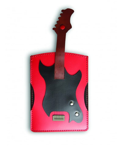 Leather Electric Guitar Passport Holder