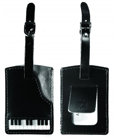 Leather Piano Luggage Tag