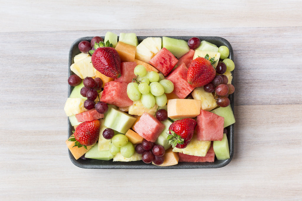 Chopped fruit platter