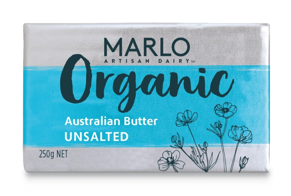 Marlo Organic Grass Fed Unsalted Butter  250G -  | Oasis