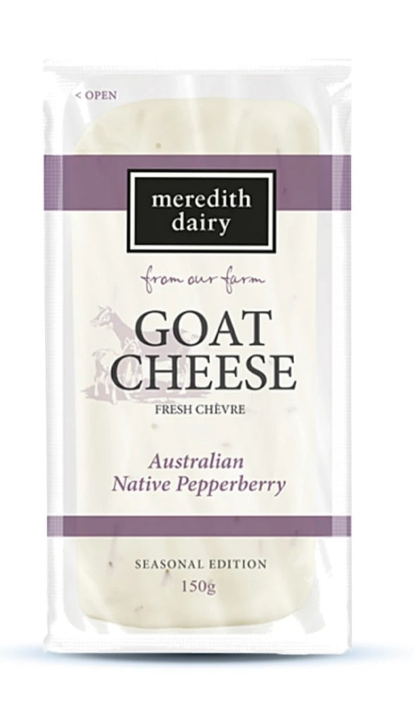 Meredith Dairy Goat Cheese Pepperberry 150g