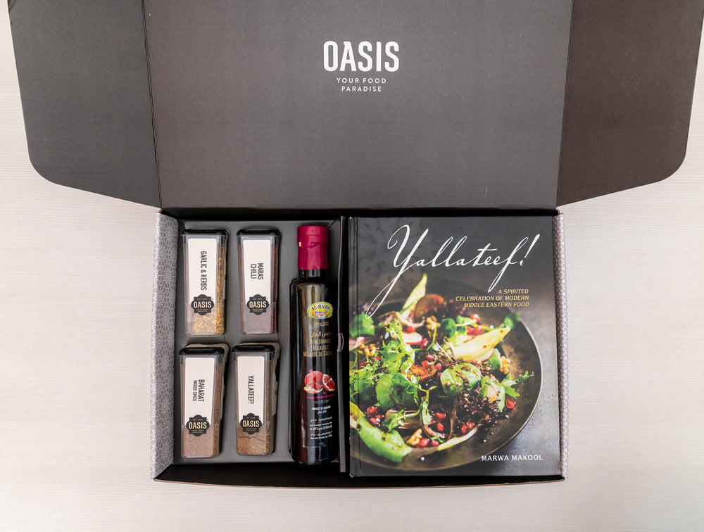 Yallateef! cookbook + essential ingredients hamper - Hampers | Oasis